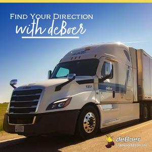 deBoer Transportation is Hiring Driver/Trainers | Great Benefits