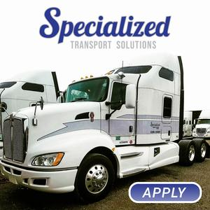 Specialized Transport Solutions Hiring Drivers With Hazmat + Tanker