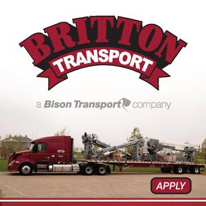 Britton Transport Hiring Regional Flatbed Drivers - Home Every 5 to 7