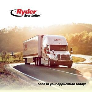 Ryder is Seeking Class A Drivers • Averaging $1300/week • $5K Sign On