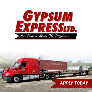 Gypsum Express is HIRING Regional CDL A Flatbed Truck Drivers!