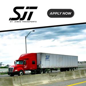 St. James Transports Is HIRING Experienced CDL-A Drivers