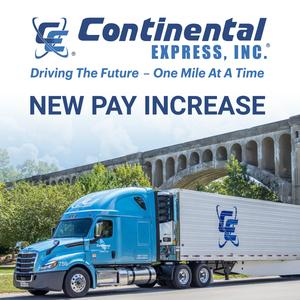 Continental Express is Seeking Team Drivers | New Pay Increase - 60CPM