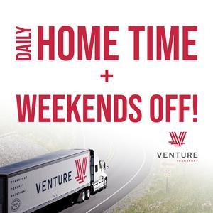 Venture Transport is Seeking Class A Drivers• Home Daily!