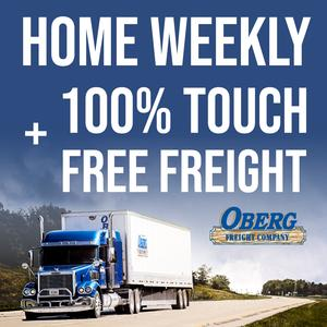 CDL-A Company Drivers | Home Weekly | 100% Touch Free Freight