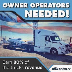 GT Express is Seeking Owner Operators for OTR | $6,000-$8,000 Gross