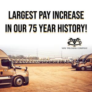 OTR CDL-A Company Truck Drivers | Largest Pay Increase Ever
