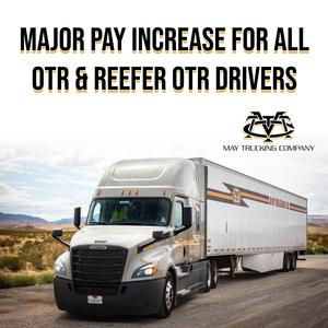 OTR CDL-A Company Drivers | Largest Pay Increase Ever