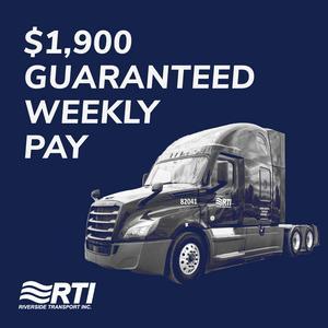 CDL-A Drivers | Earn $1,900 Per Week Guaranteed Minimum + Home Weekly