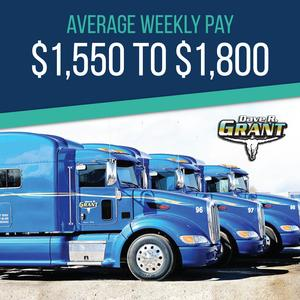 Grant Trucking is Hiring CDL-A Flatbed Drivers | Average $1,500+/week!