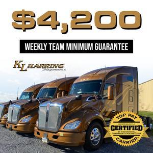 KL Harring Transportation Offering OTR TEAM Drivers Guarantee Minimums